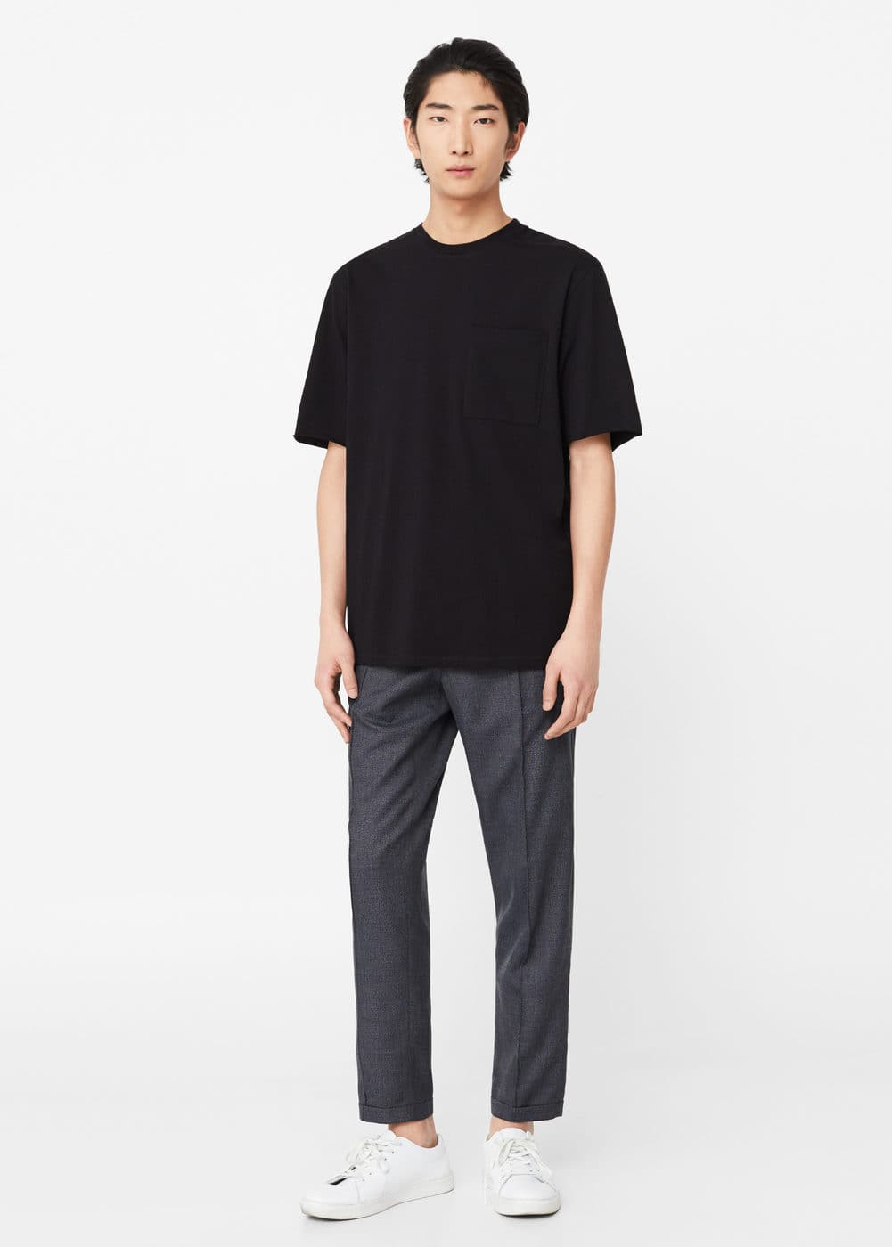 Pocket oversize t-shirt | MANGO