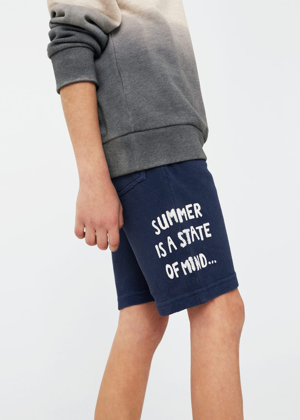 Textured cotton shorts | MANGO