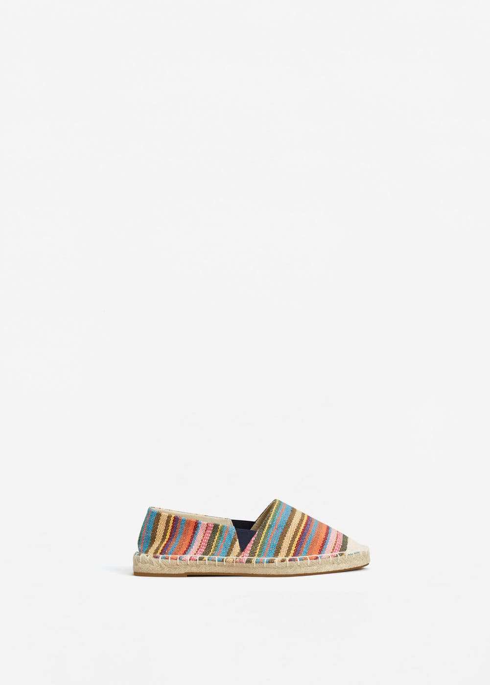 Striped cotton espadrilles | MANGO KIDS