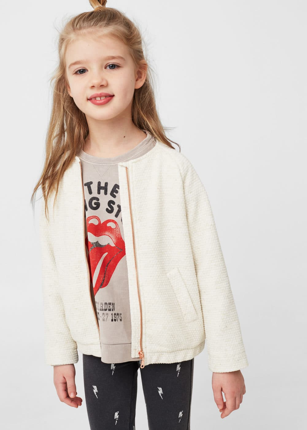 Message textured jacket | MANGO KIDS