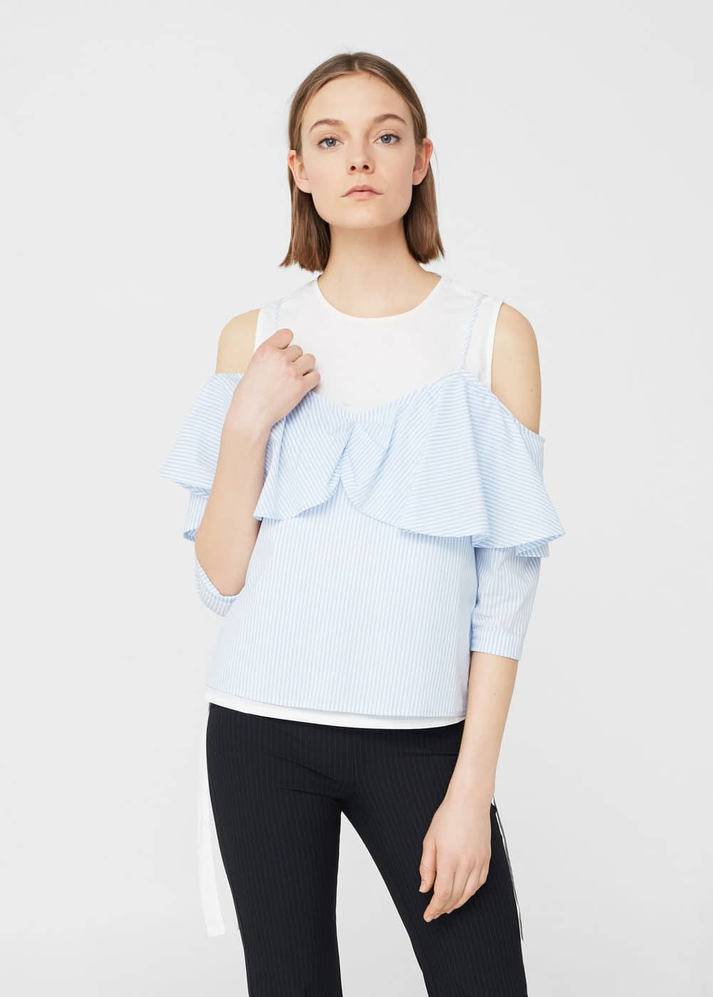 Blouse volants | MANGO