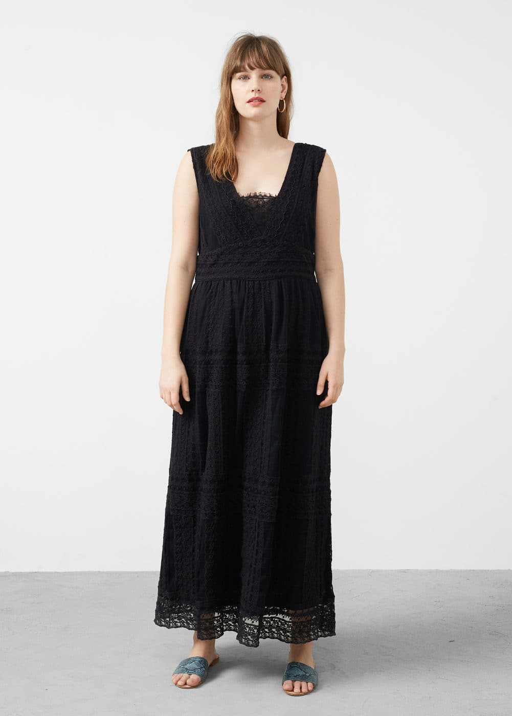 Open-work long dress | MANGO
