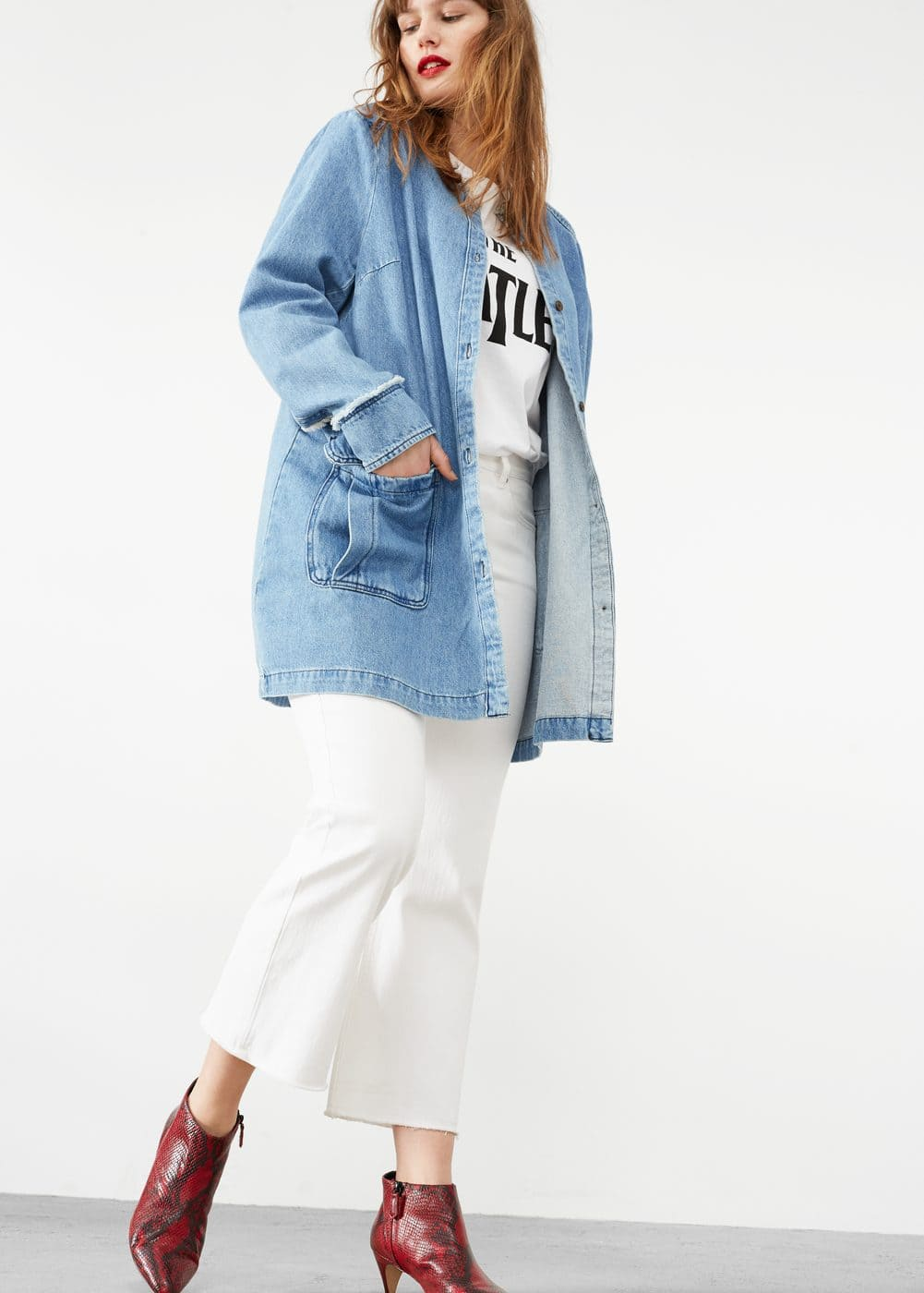 Veste denim poches | MANGO