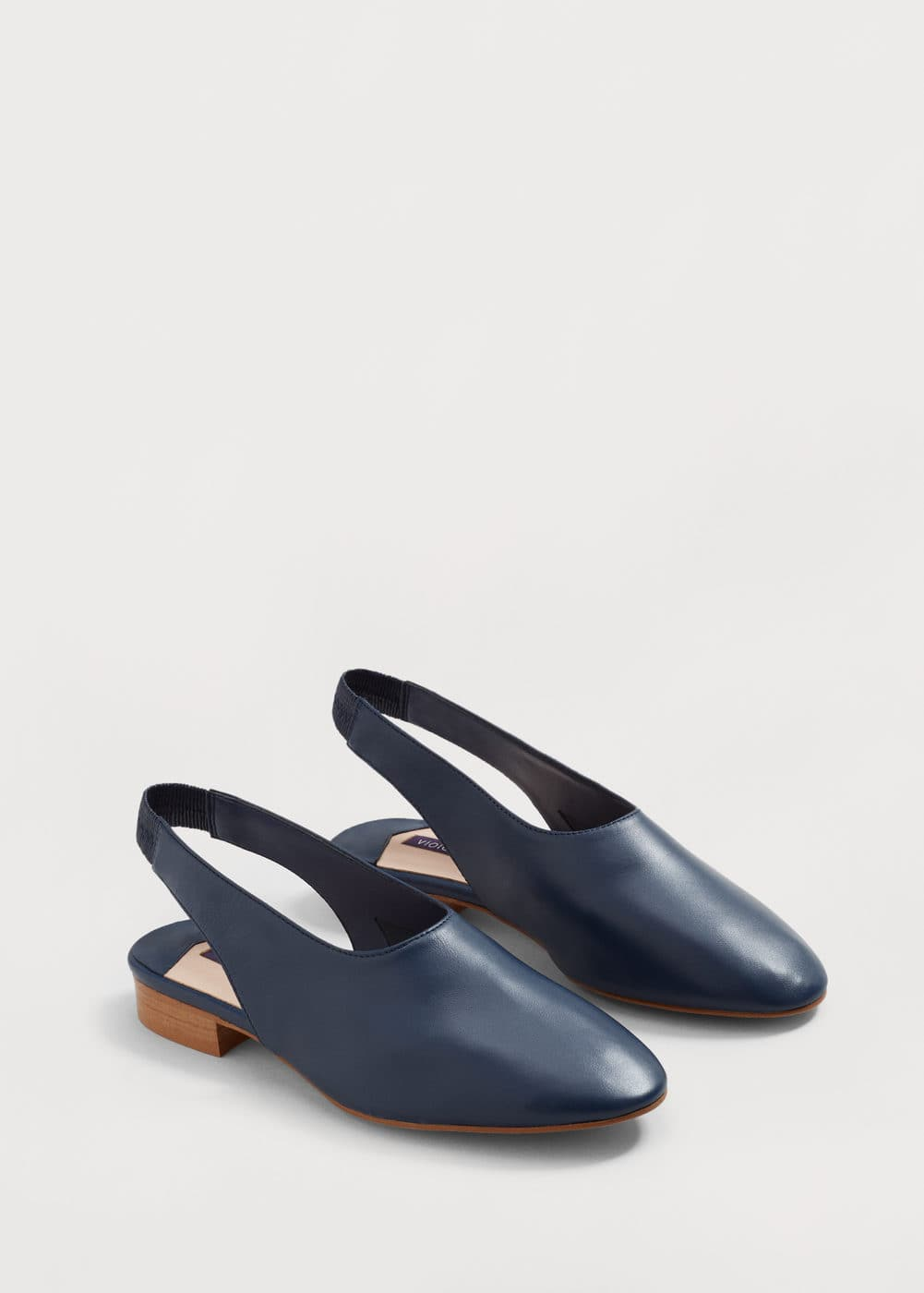 Slingback leather ballerina | MANGO