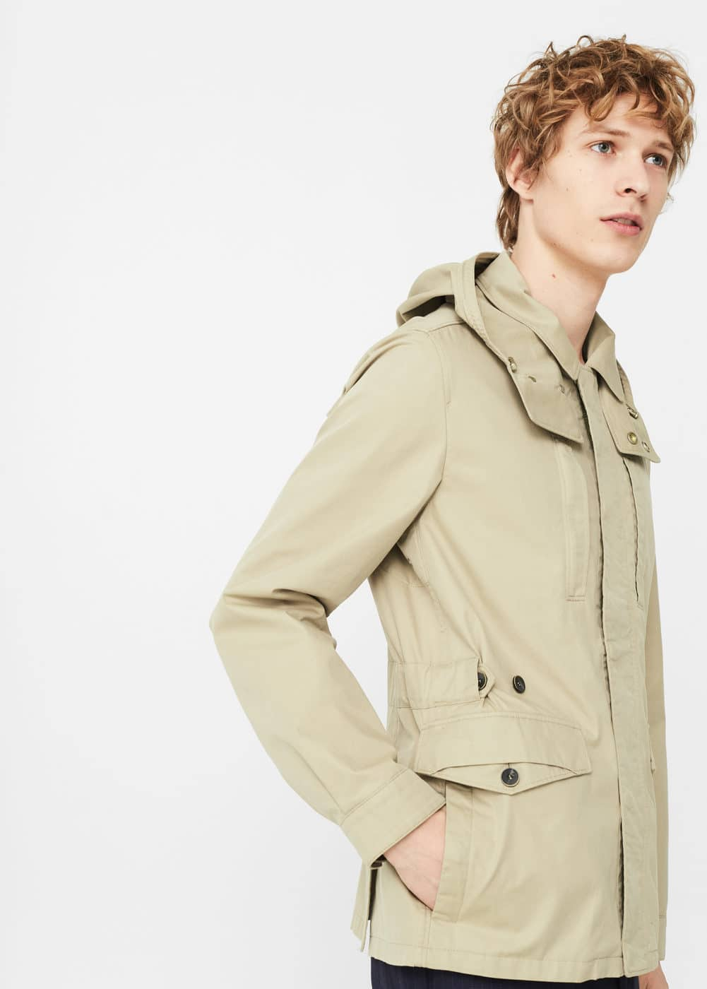 Detachable hood jacket | MANGO