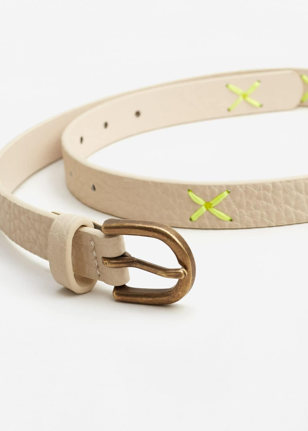 Laser-cut belt | MANGO