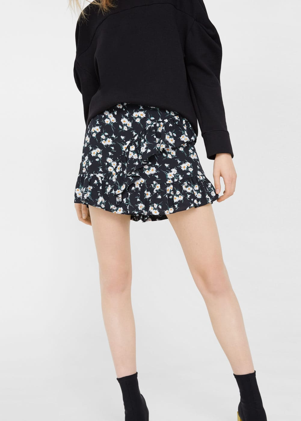 Printed skirt pants | MANGO