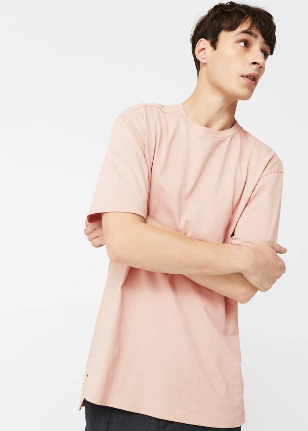 Oversize cotton t-shirt | MANGO