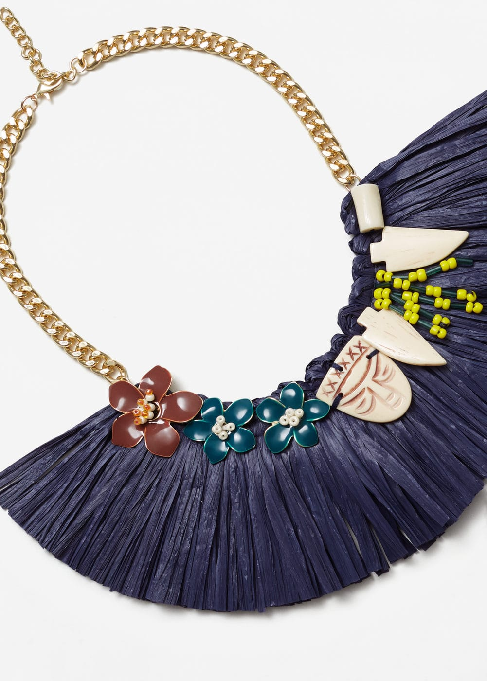 Fringed appliqué necklace | MANGO