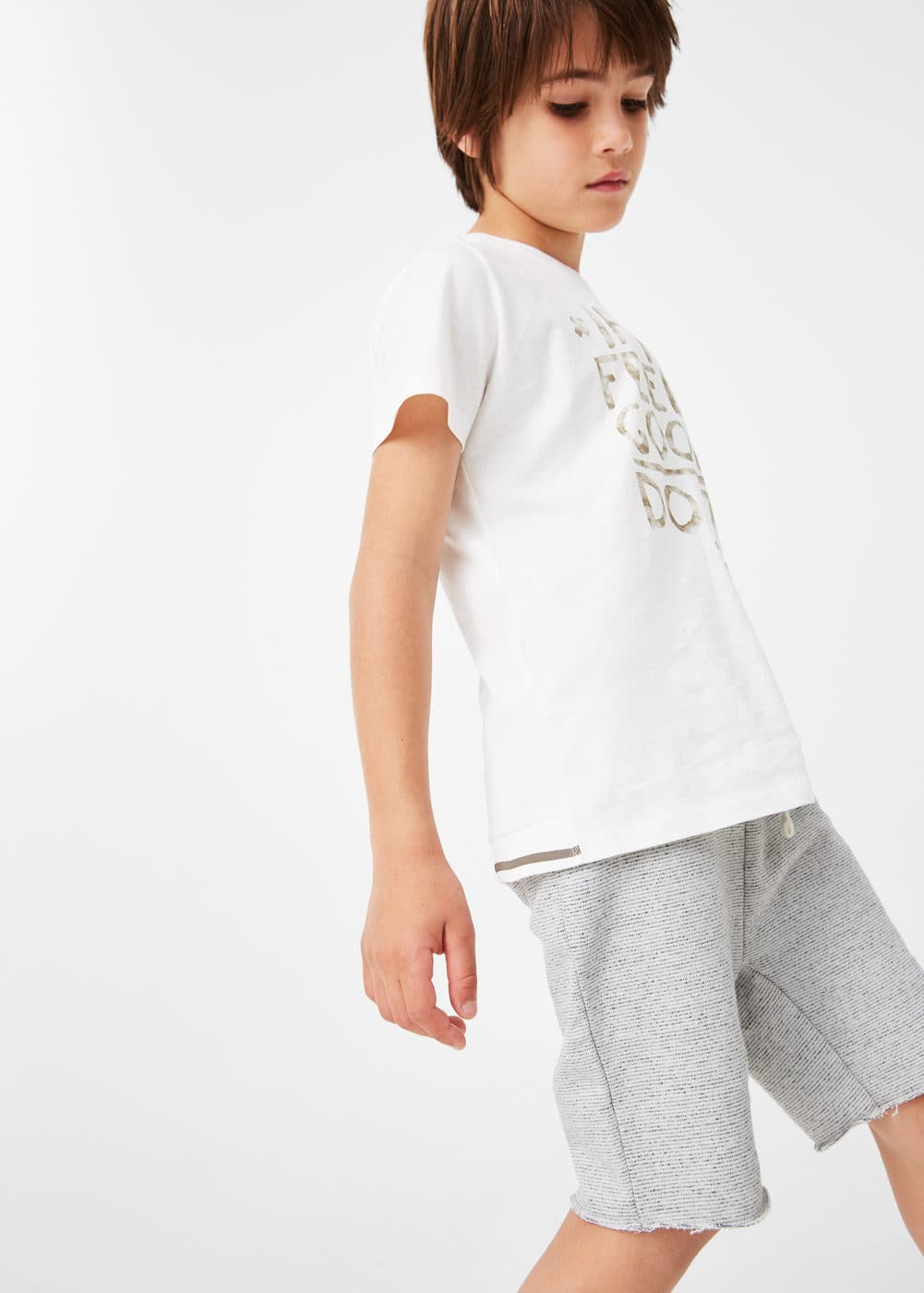 Speckled jogging bermuda shorts | MANGO KIDS