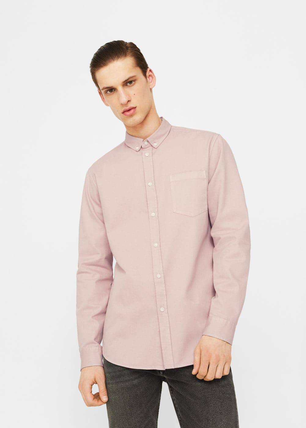 Regular-fit cotton shirt | MANGO