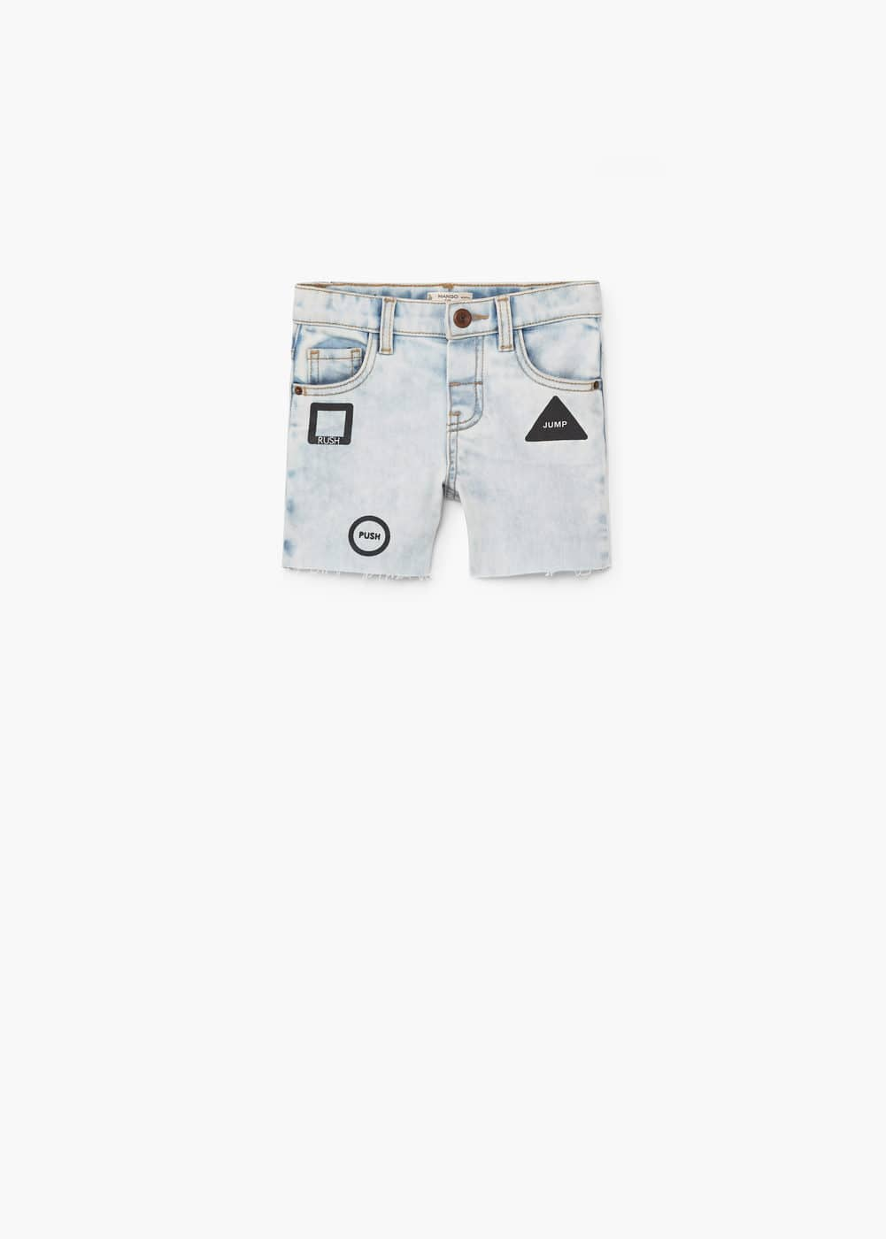 Bermudas denim lavado bleach | MANGO KIDS