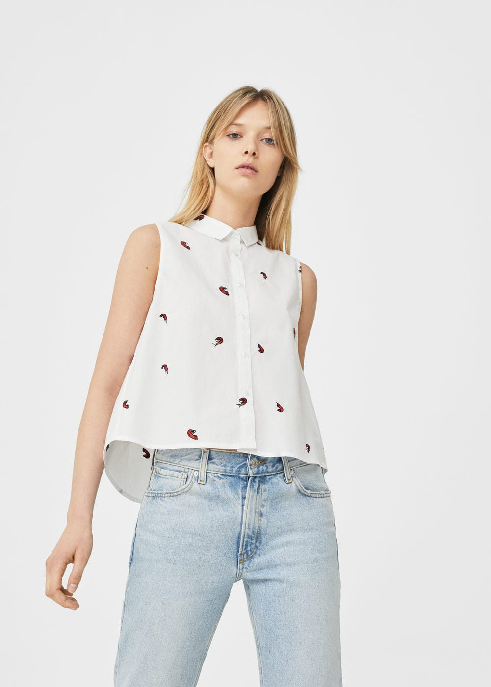 Printed top | MANGO