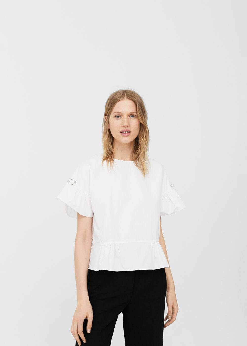 Piercings sleeve blouse | MANGO