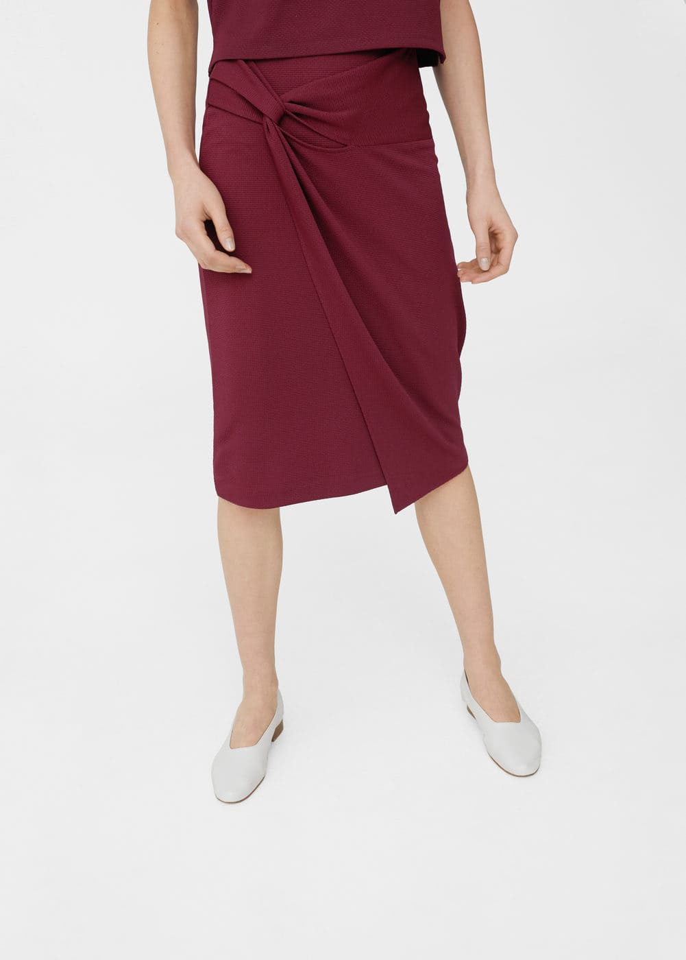 Ruched detail skirt | MANGO