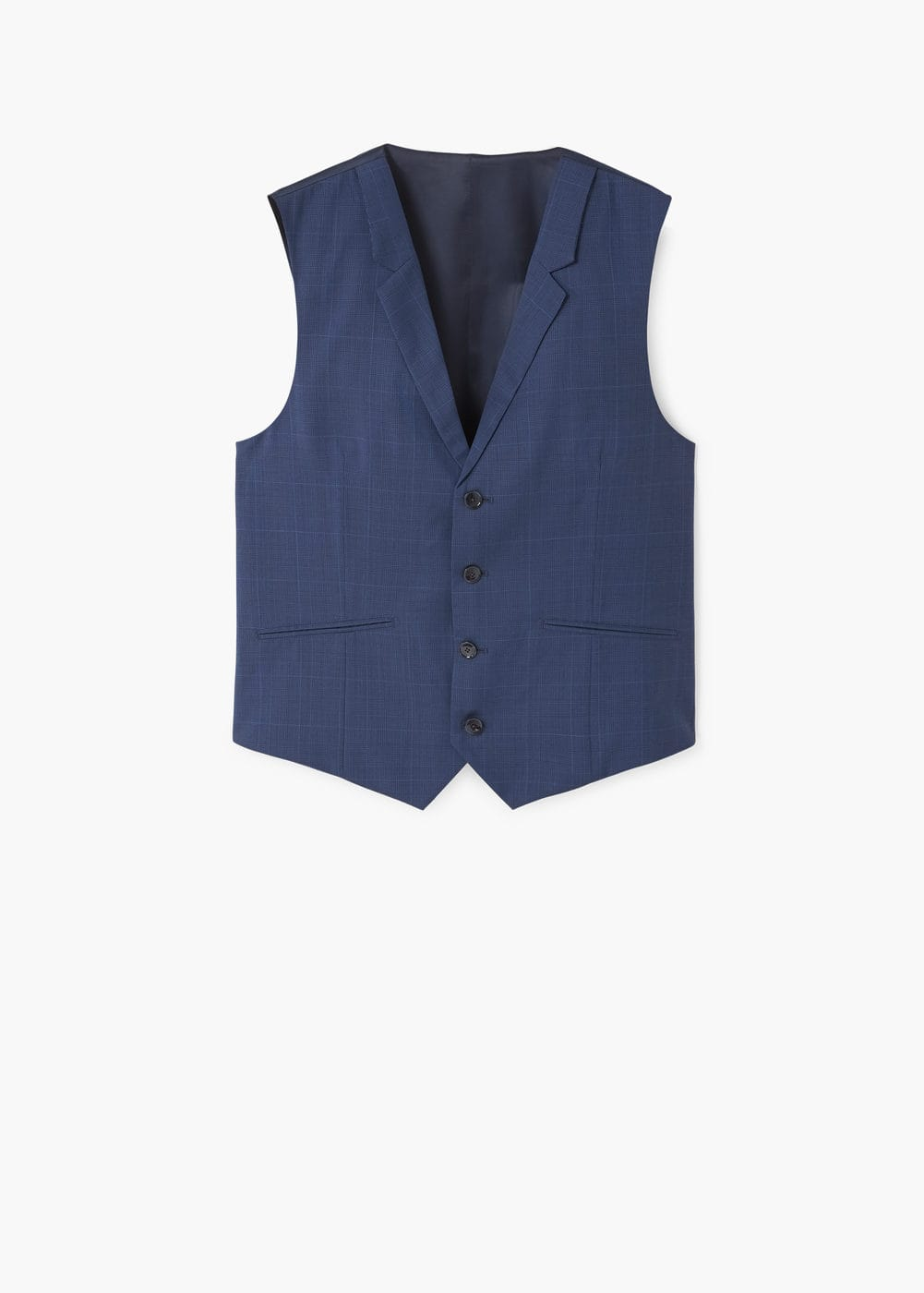 Check wool suit gilet | MANGO
