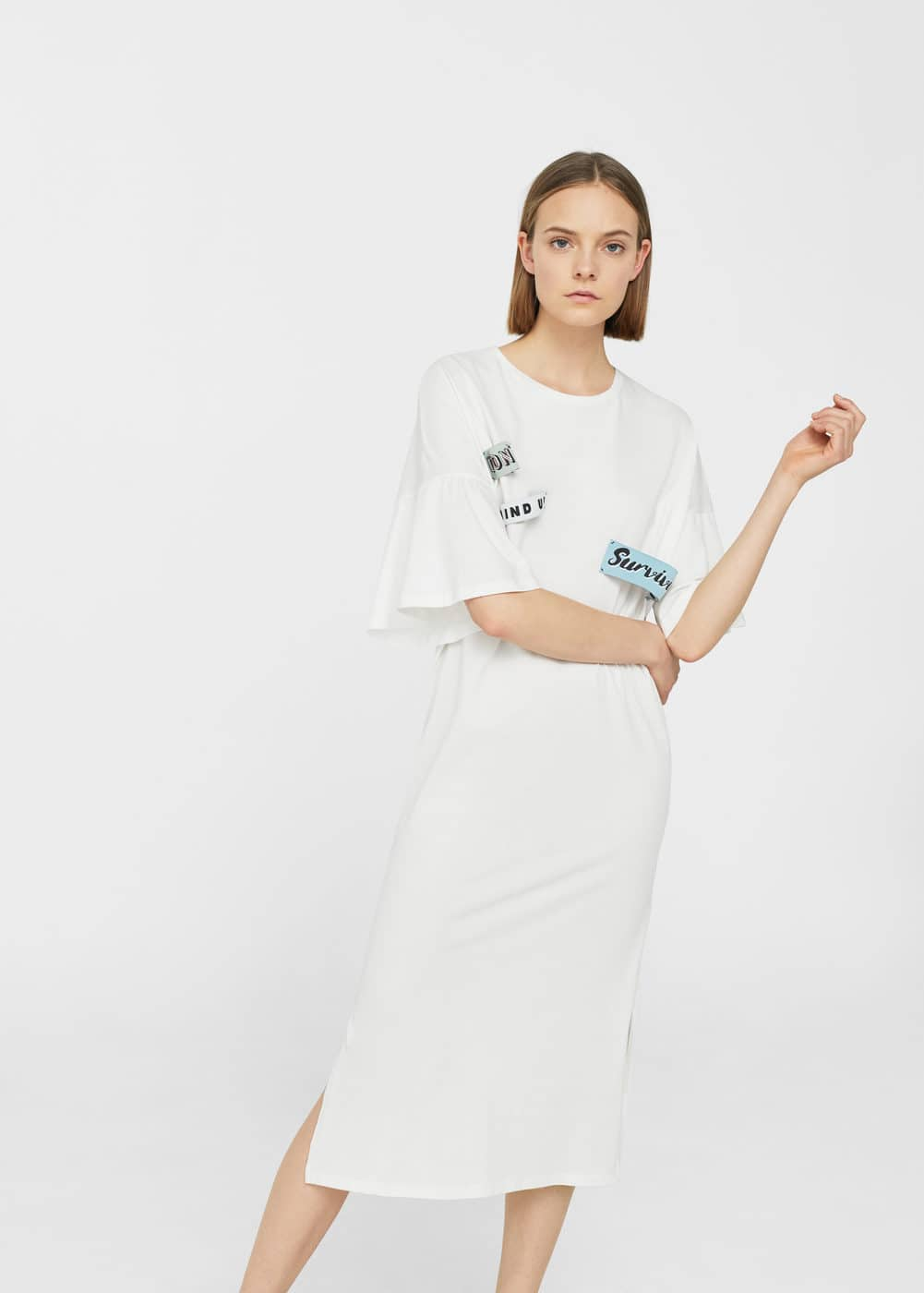 Decorative patches dress | MANGO