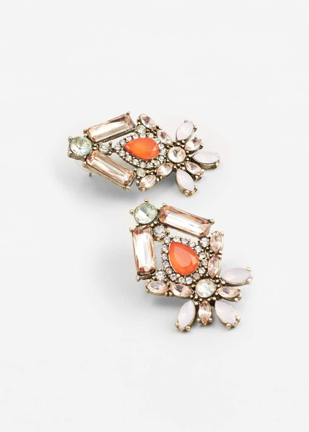 Faceted crystal earring | MANGO