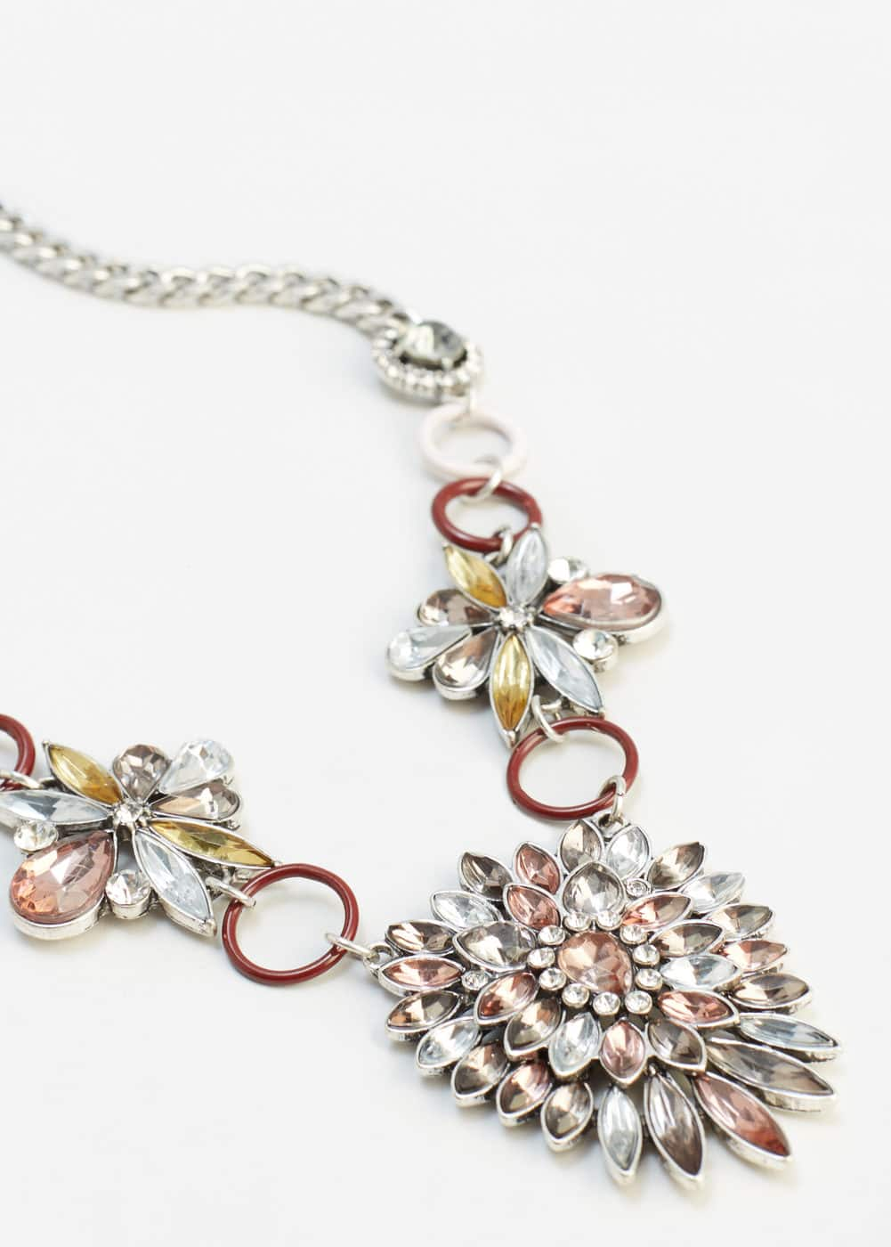 Crystal link necklace | MANGO