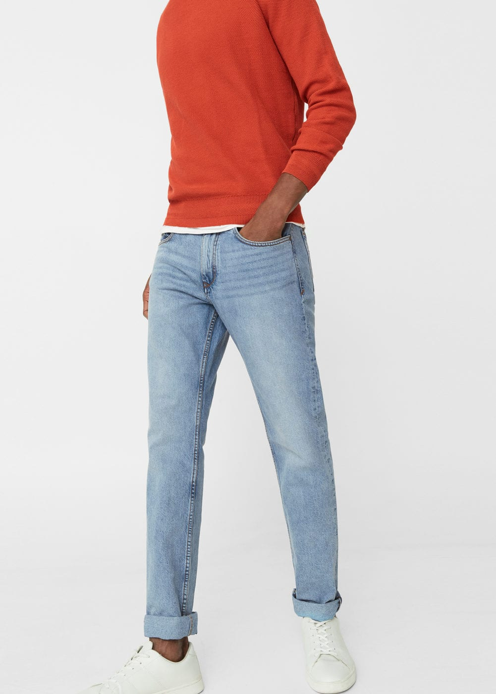 Straight-fit light wash bob jeans | MANGO