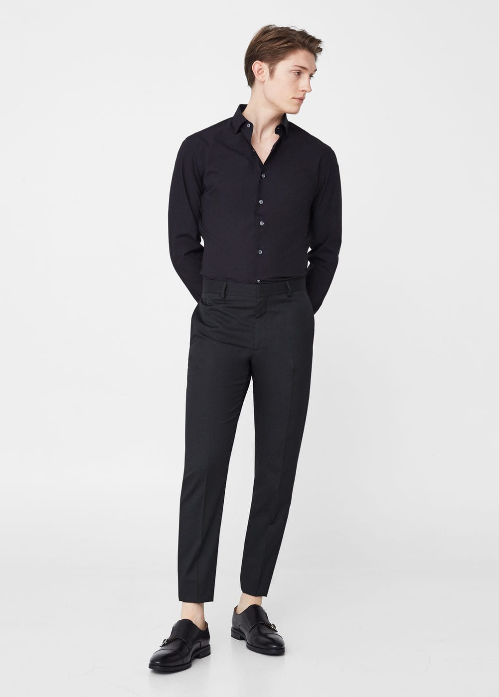 Modern slim suit trousers | MANGO MAN