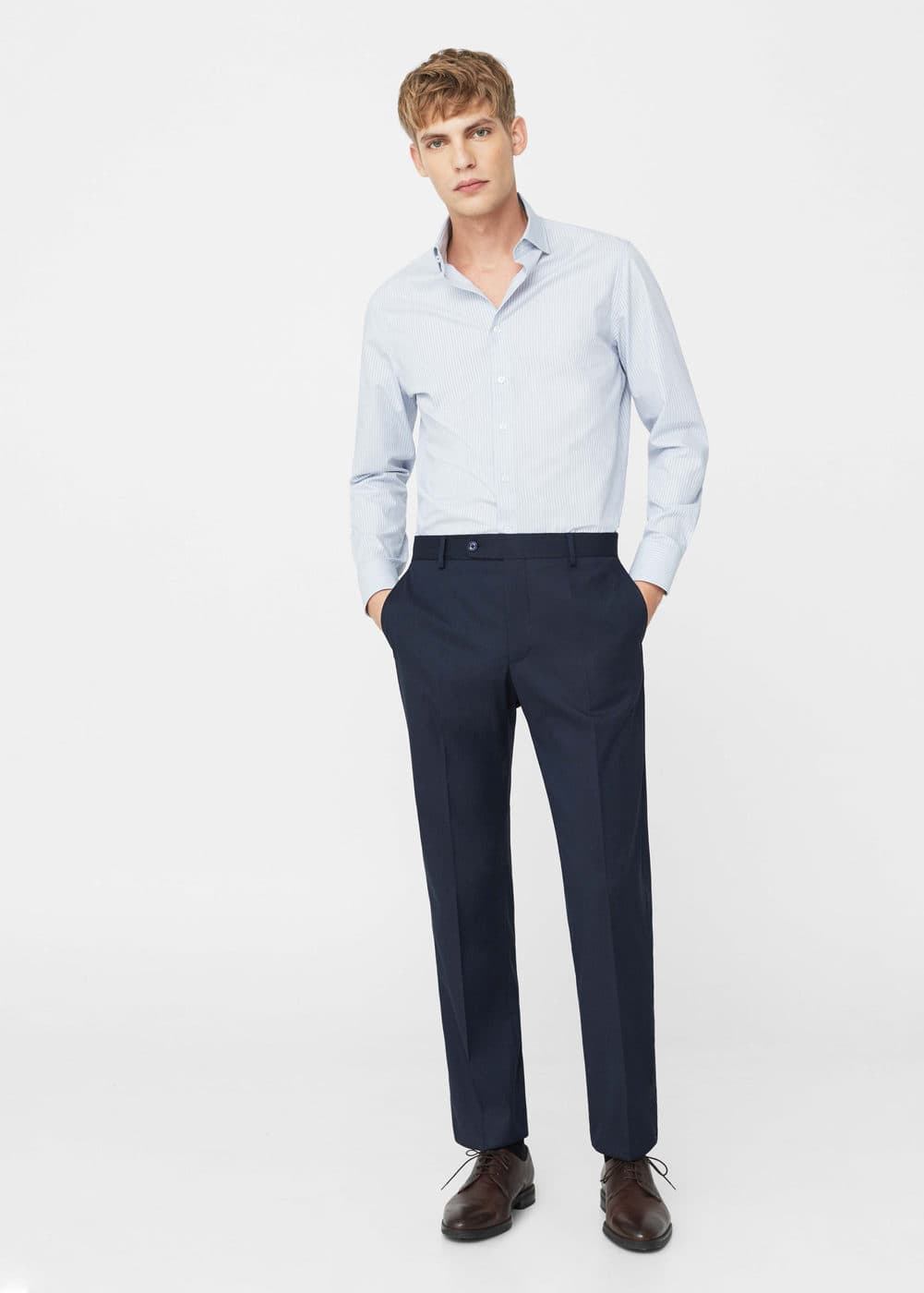 Pantalón traje regular-fit | MANGO MAN