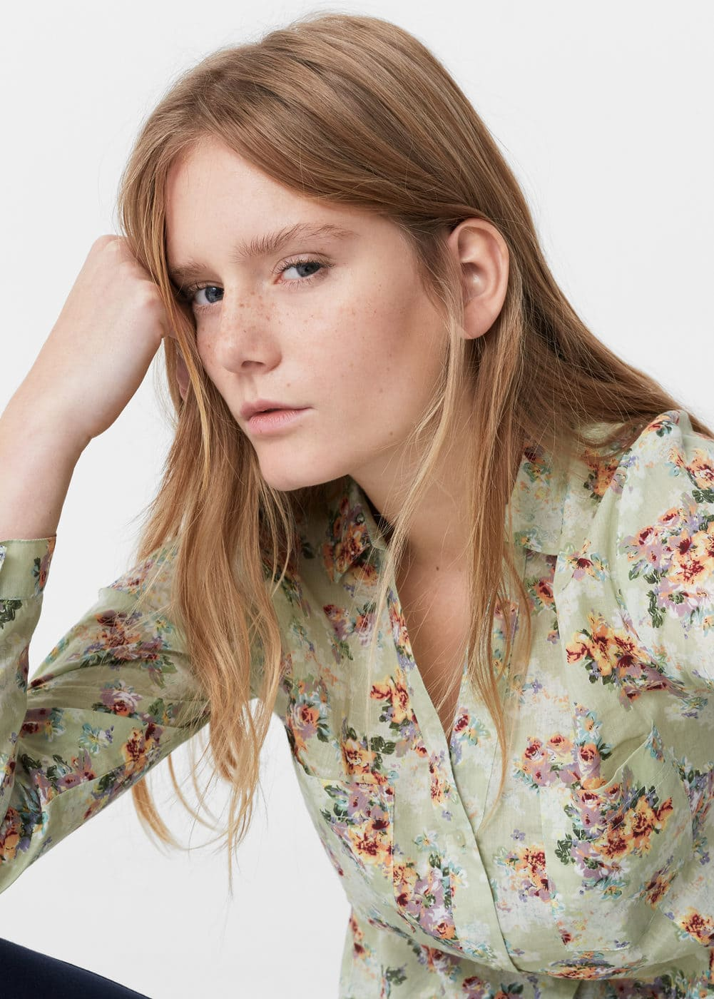 Printed cotton shirt | MANGO