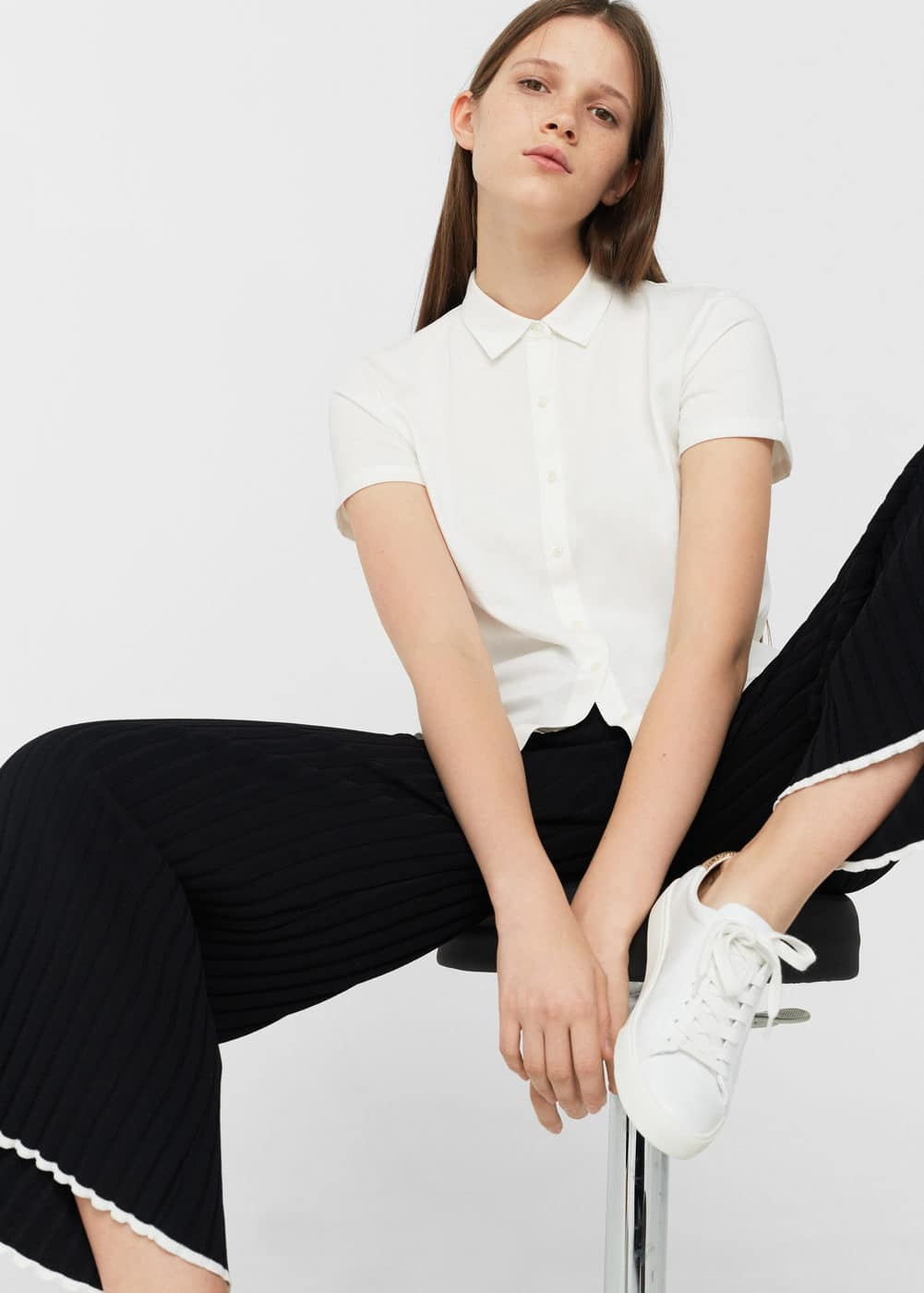 Cotton basic polo shirt | MANGO