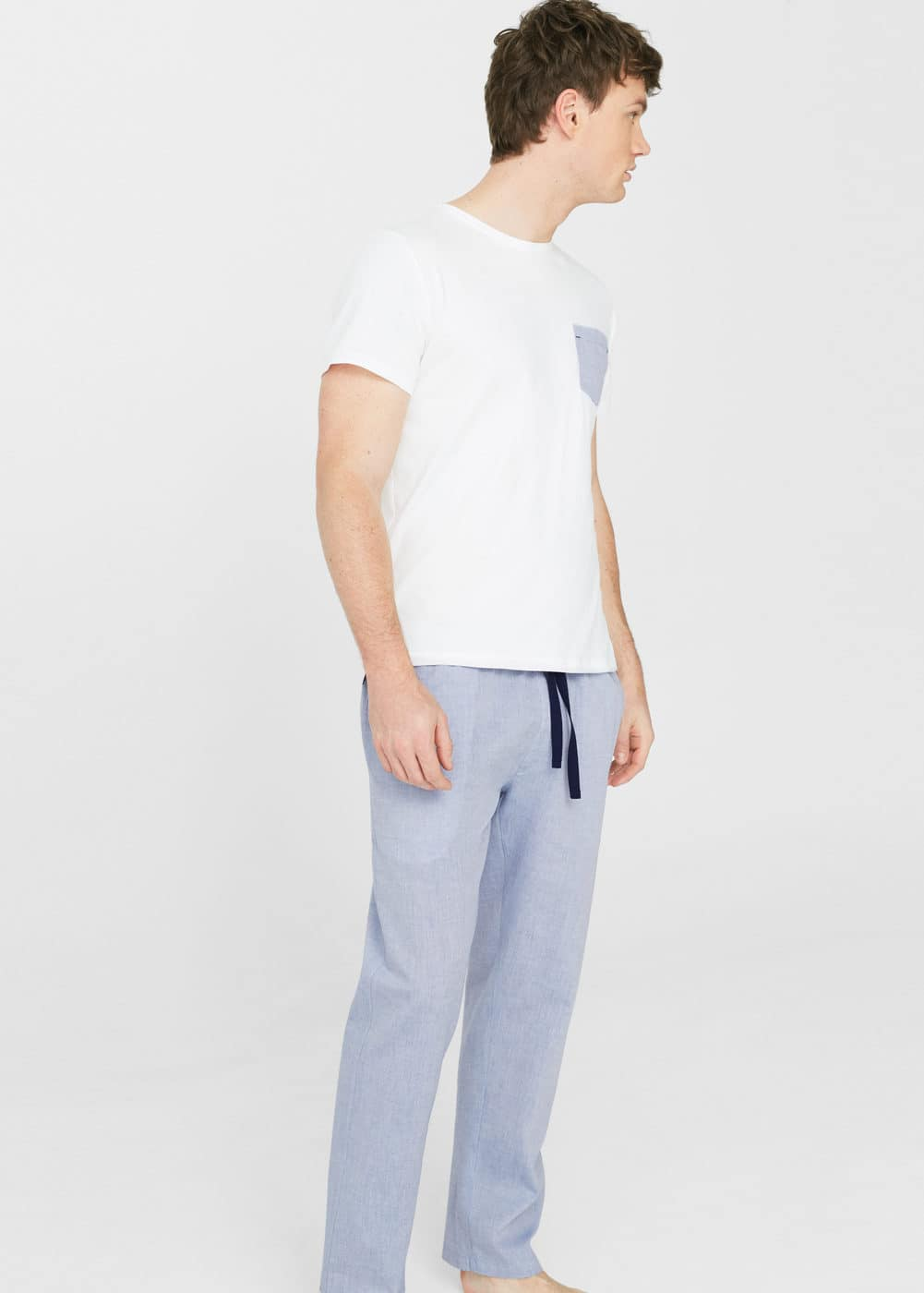 Cotton long pyjamas | MANGO MAN
