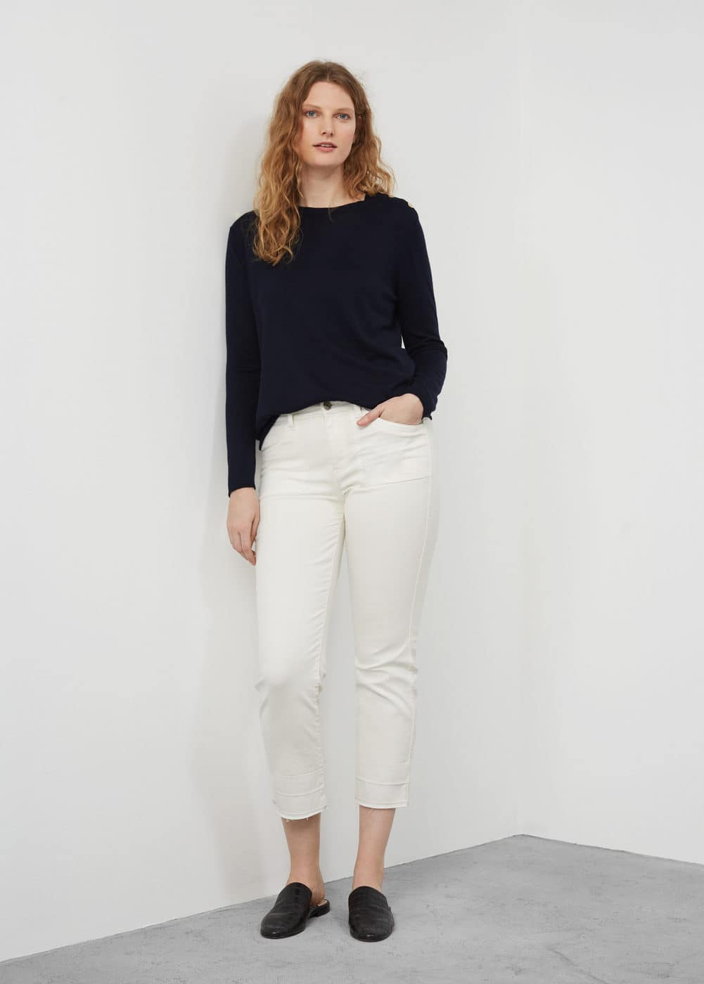 Buttoned cotton sweater | MANGO