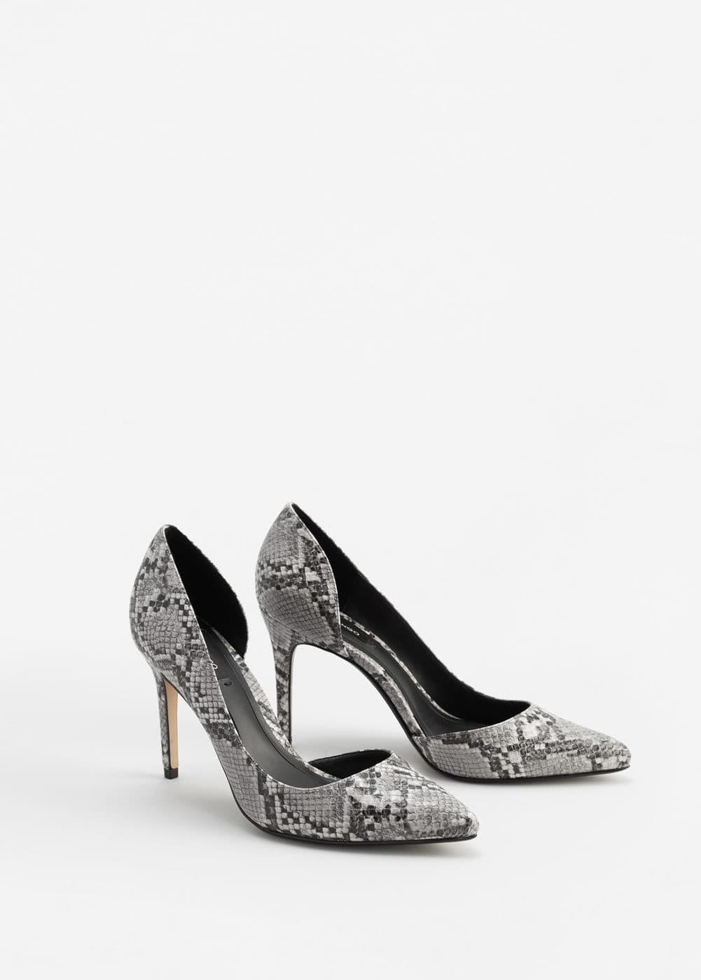 Snake-finish pumps | MNG