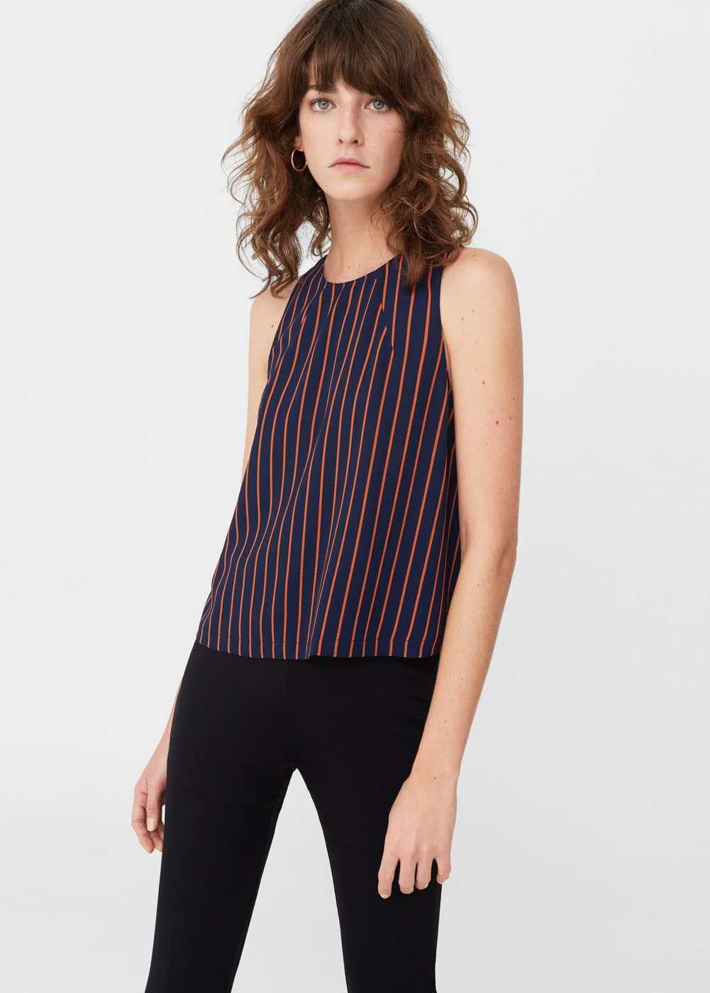 Striped top | MANGO