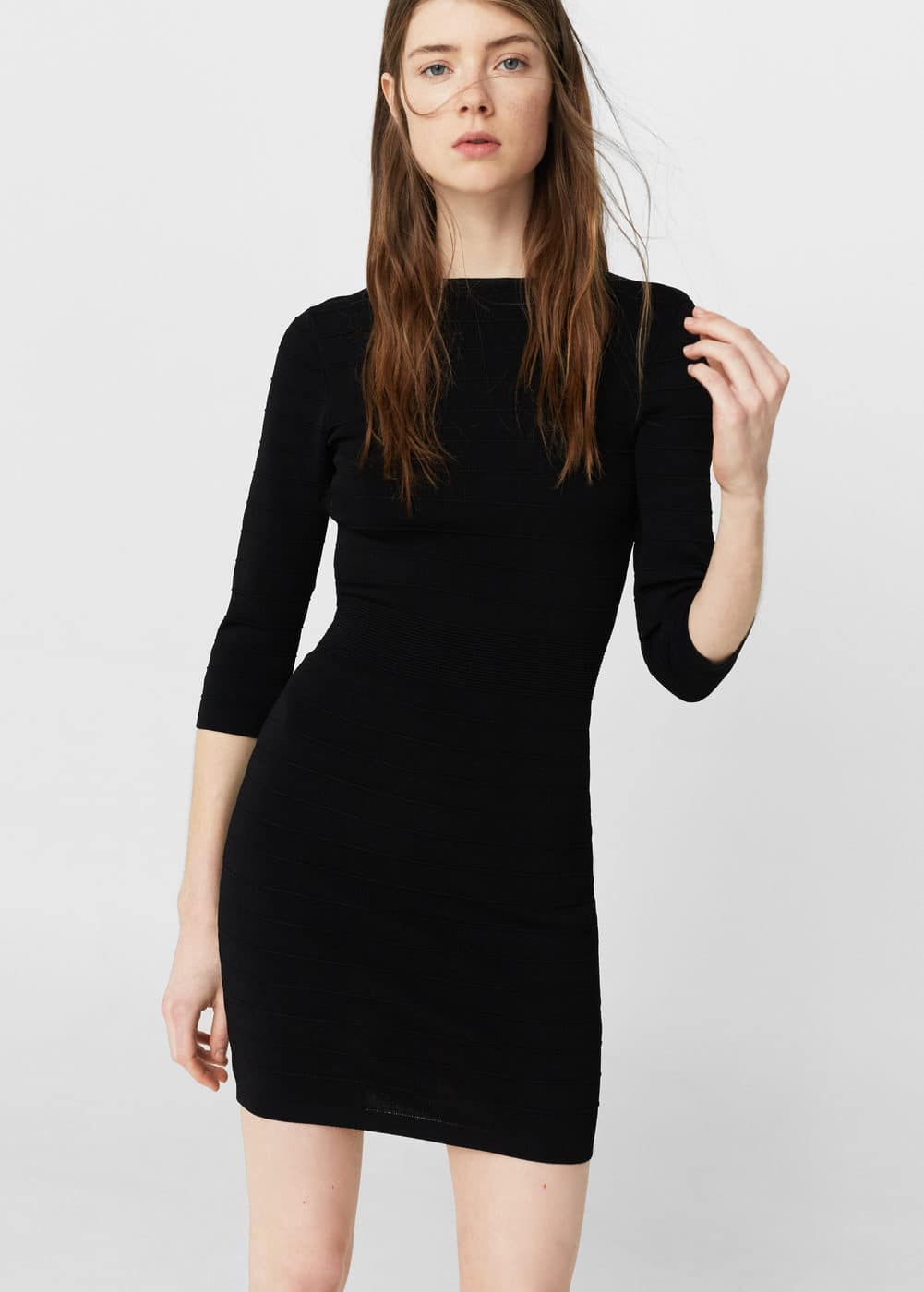 Fitted jersey dress | MANGO