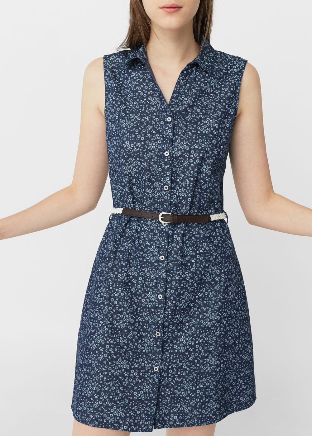 Belt printed dress | MANGO