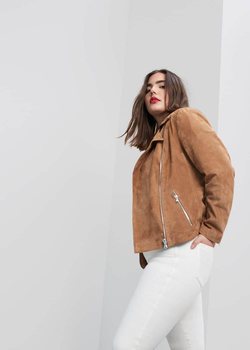 Zip-pocket suede jacket | MANGO