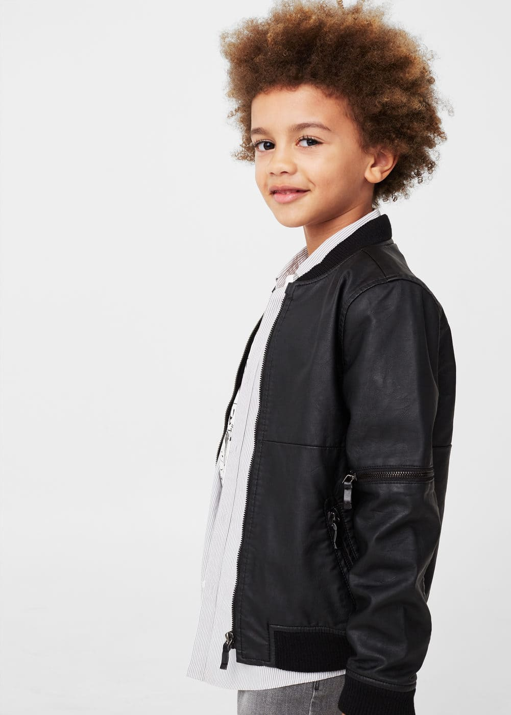 Side-pocket bomber jacket | MANGO KIDS