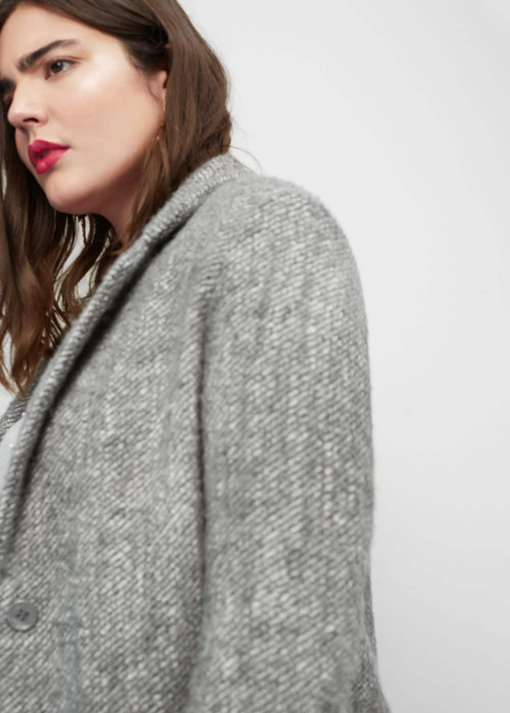Herringbone pattern wool coat | MANGO