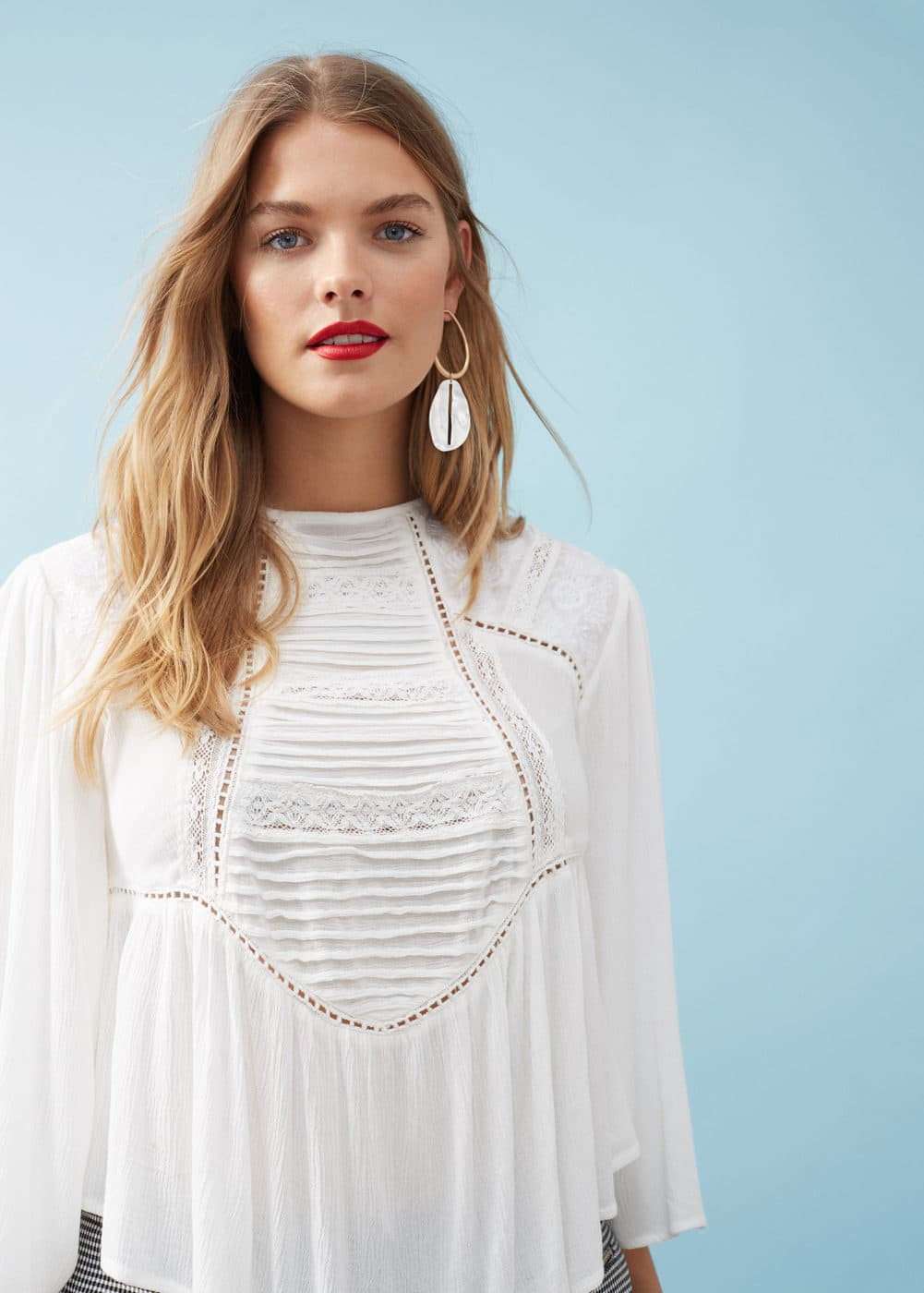 Pleated panel blouse | MANGO