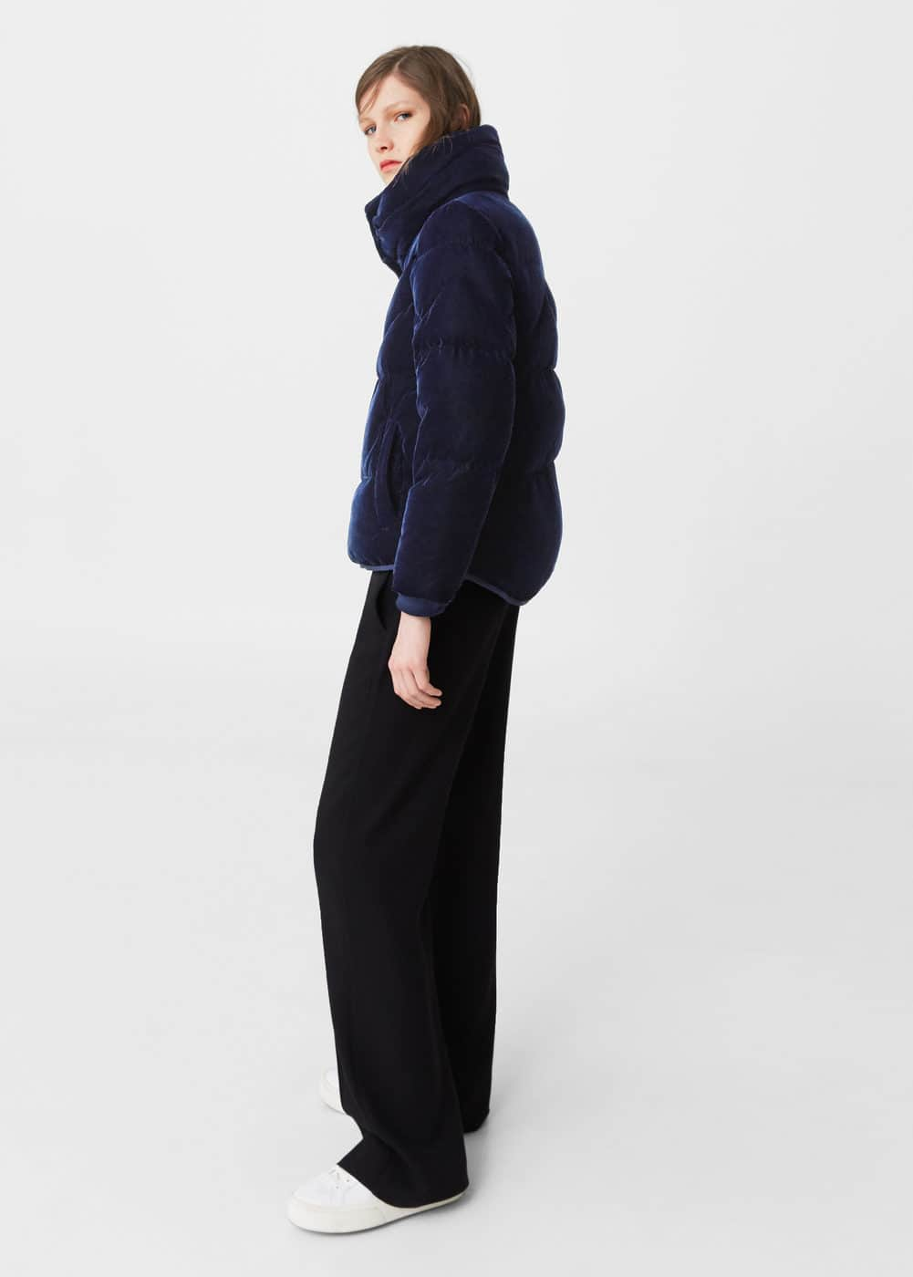 Velvet feather down coat | MANGO