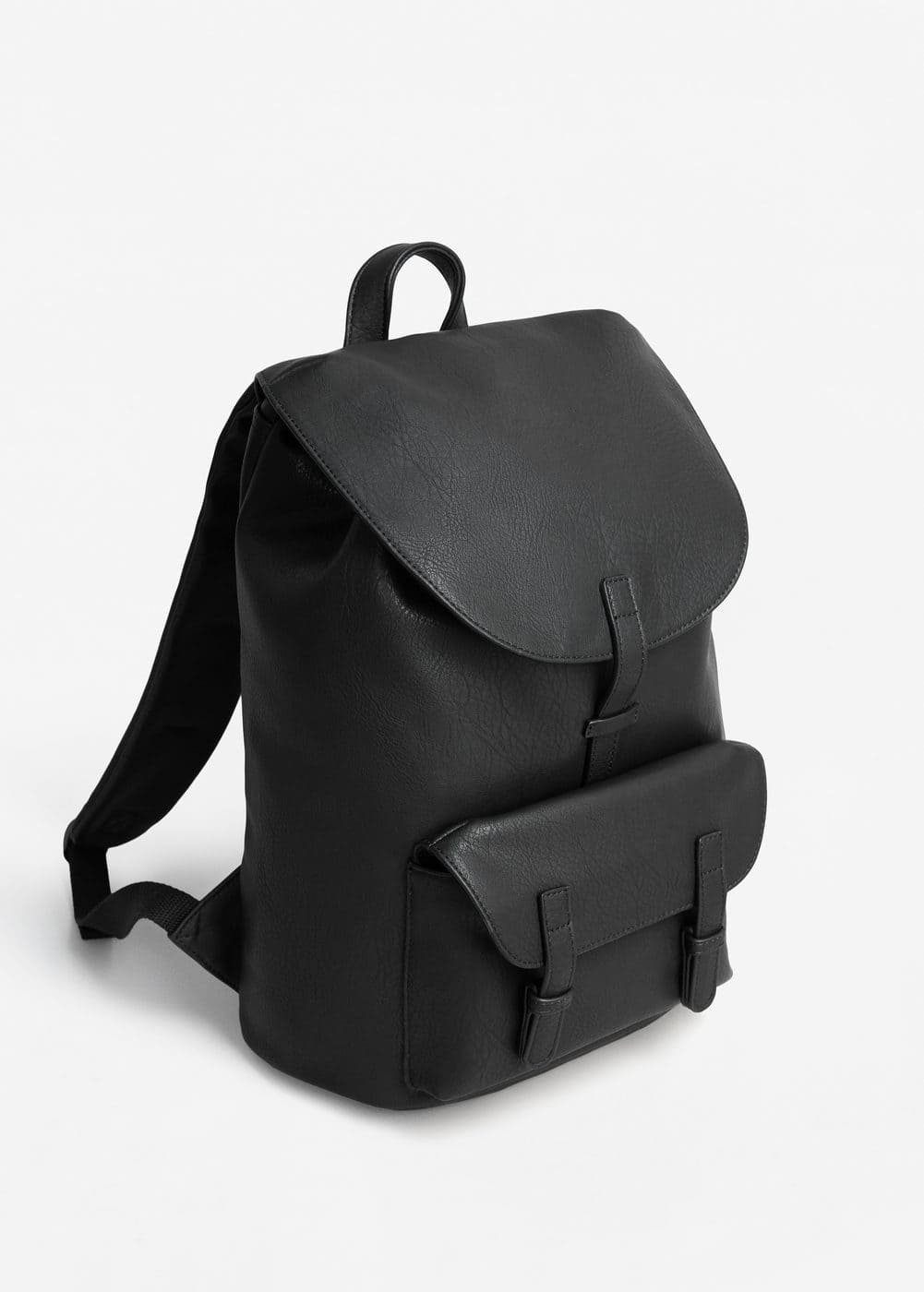 Lapel pebbled backpack | MANGO