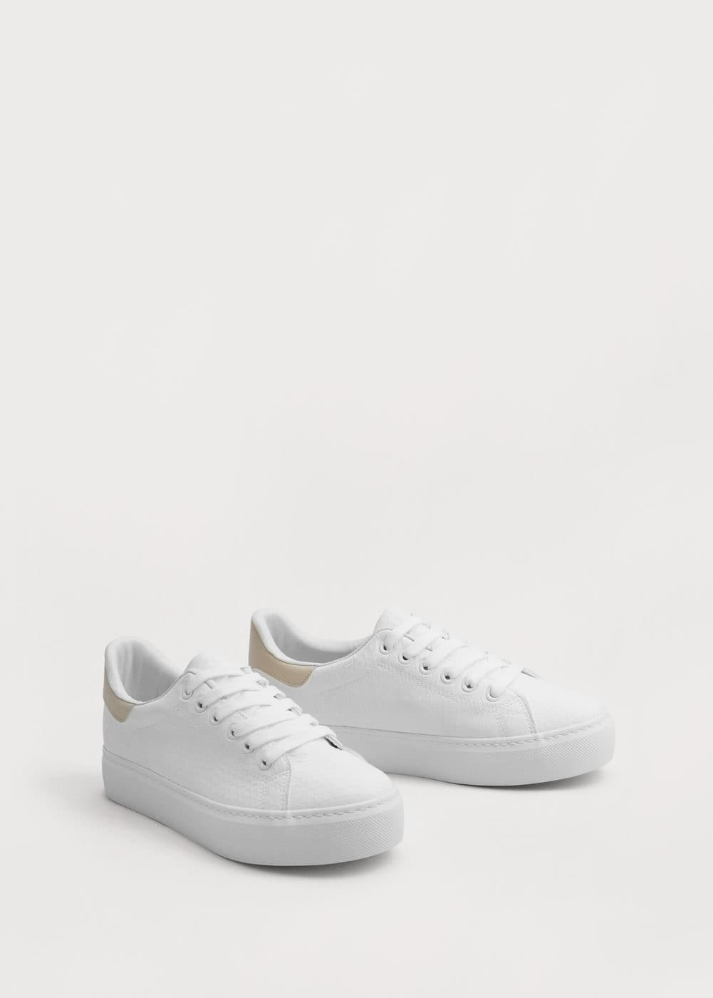 Platform lace-up sneakers | VIOLETA BY MANGO