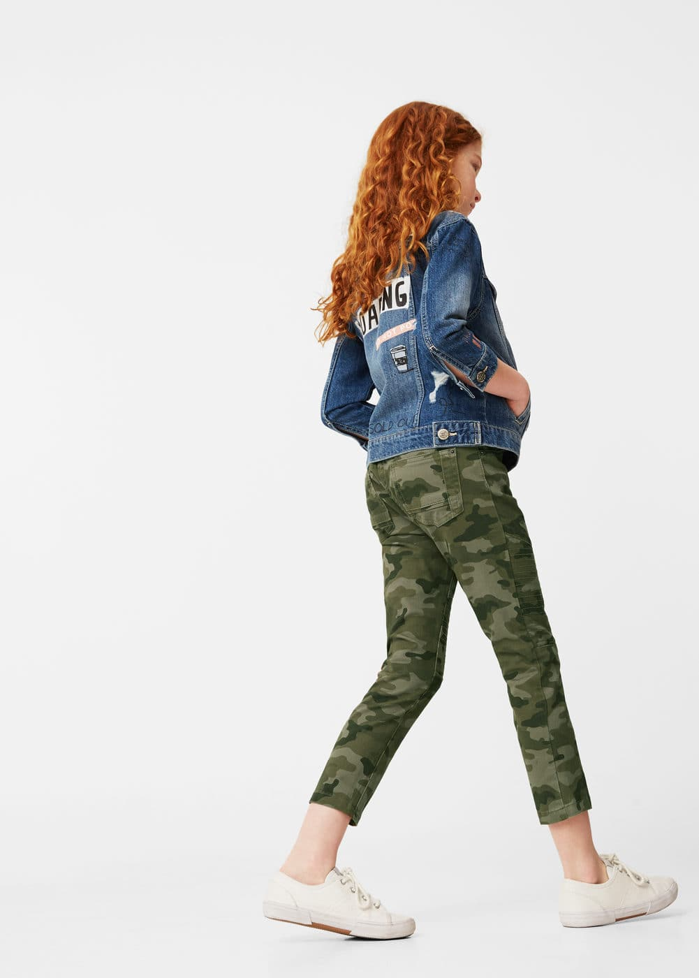 Camo-print trousers | MANGO KIDS