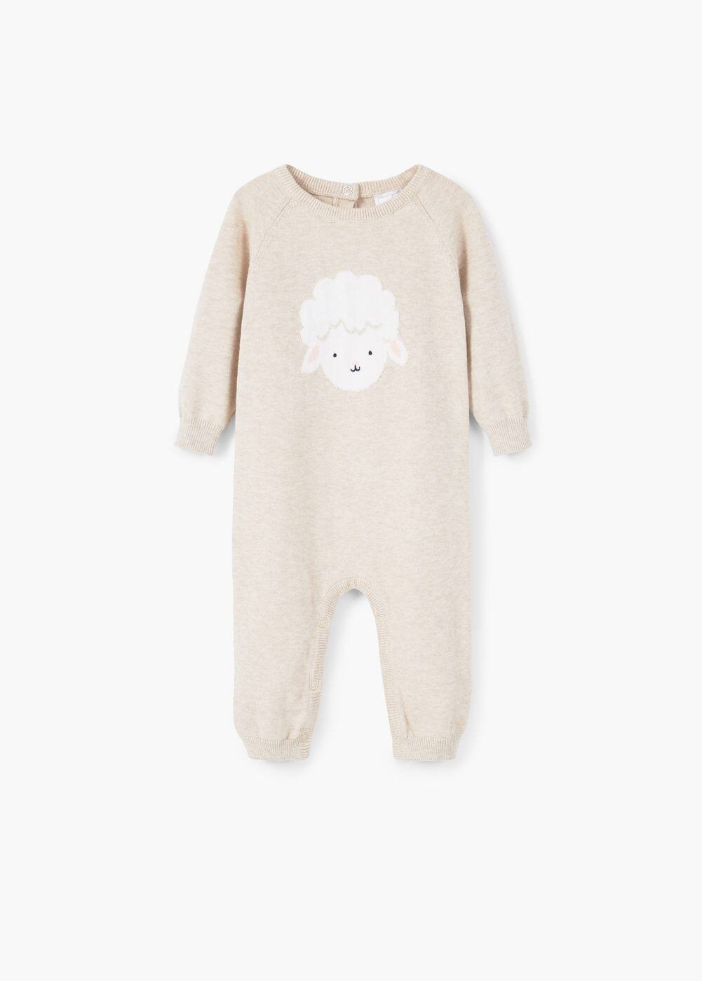 Flecked cotton dungarees | MANGO KIDS