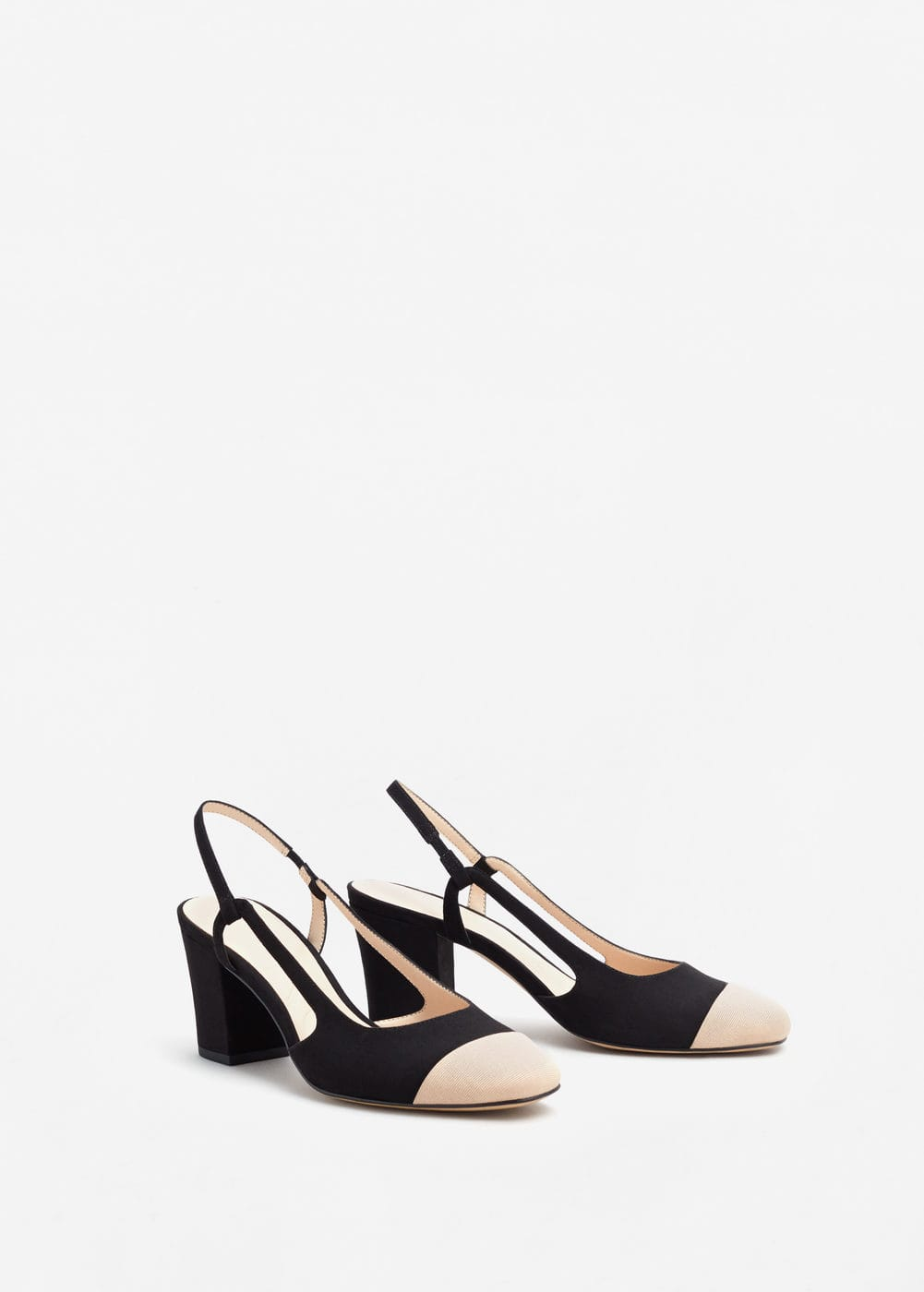 Slingback two-couloured shoes | MANGO