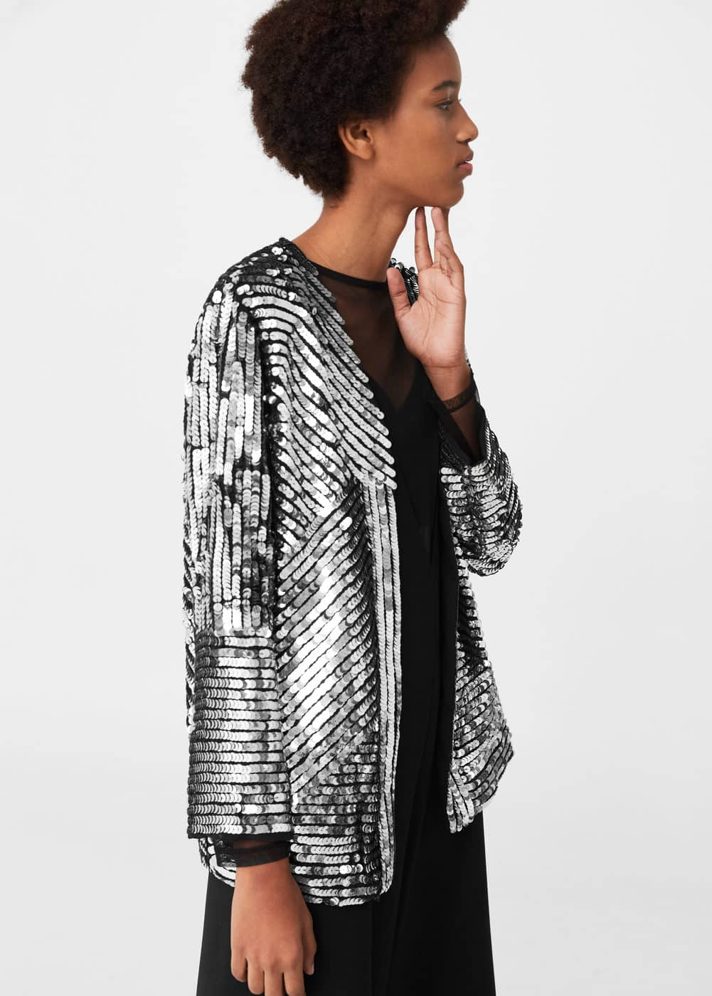 Sequin embroidered jacket | MNG