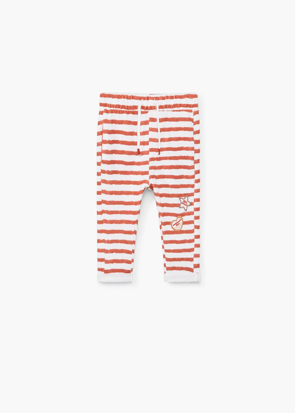 Striped cotton trousers | MANGO