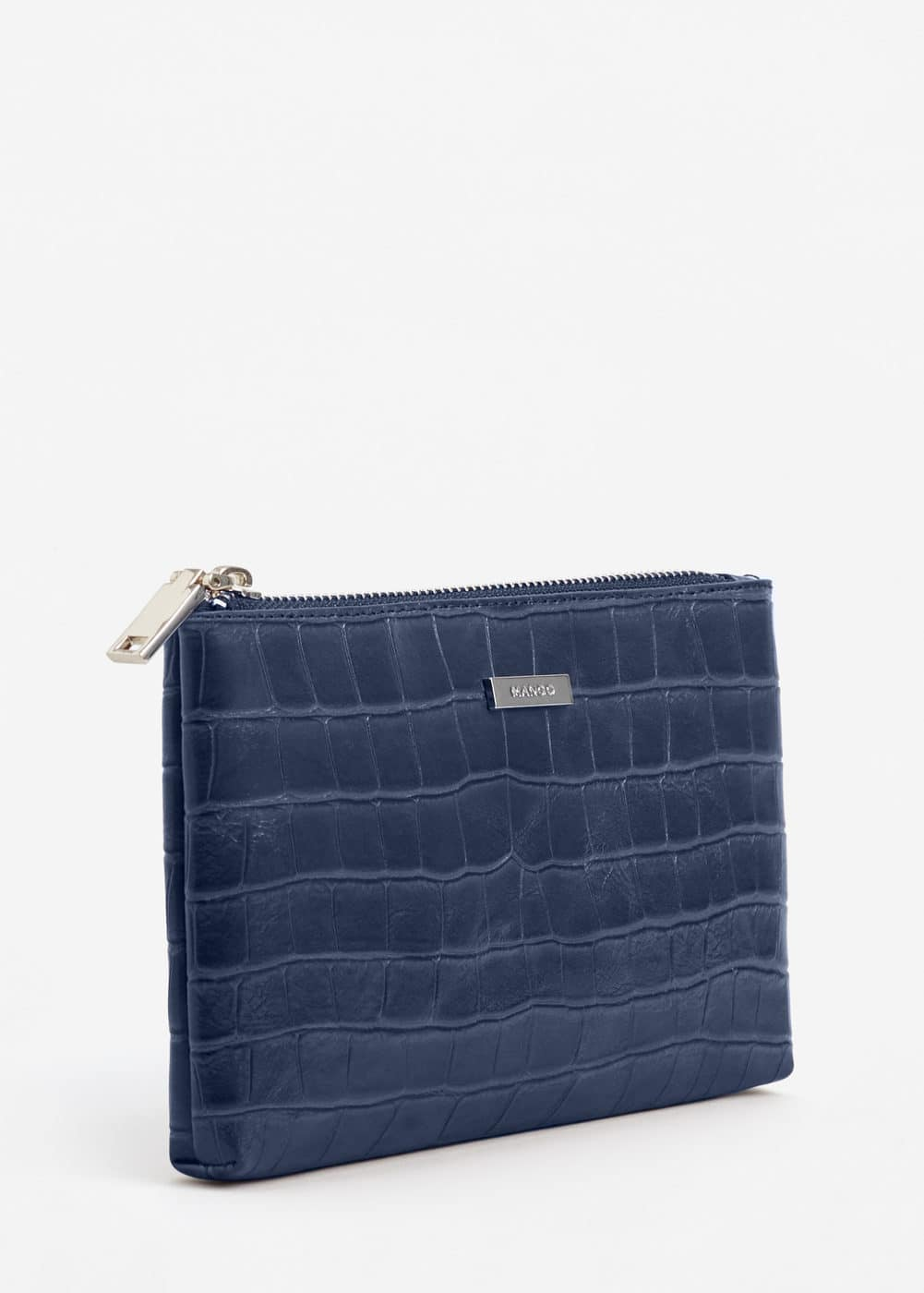 Croc-effect cosmetic bag | MANGO