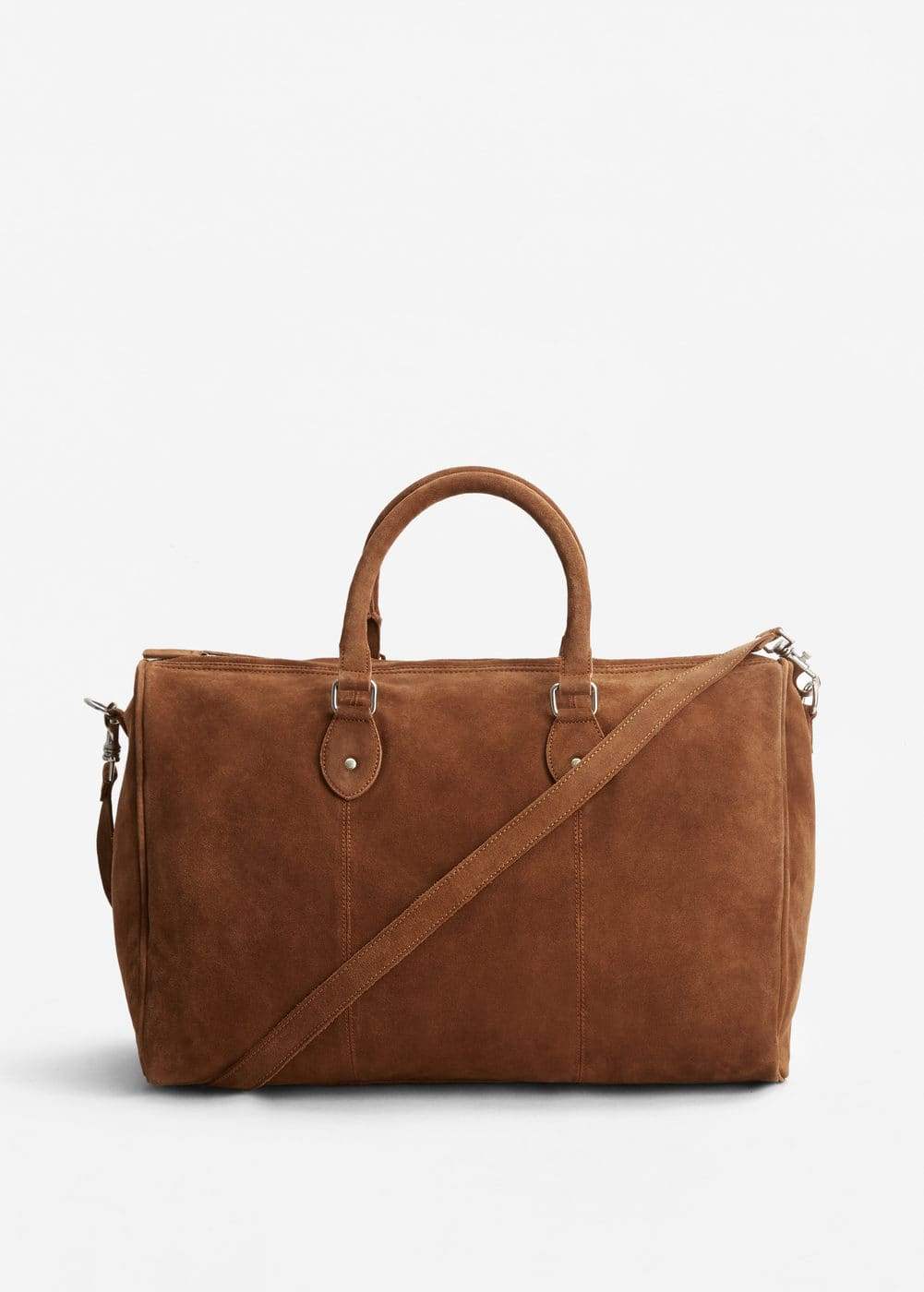 Suede weekend bag | MANGO MAN