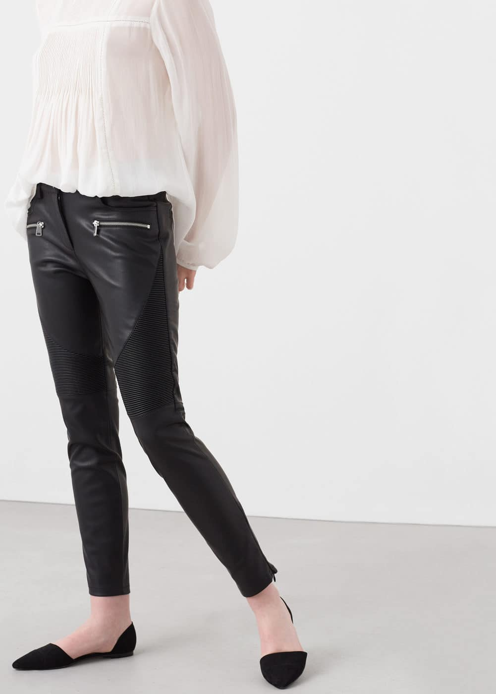 Slim-fit biker trousers | MANGO