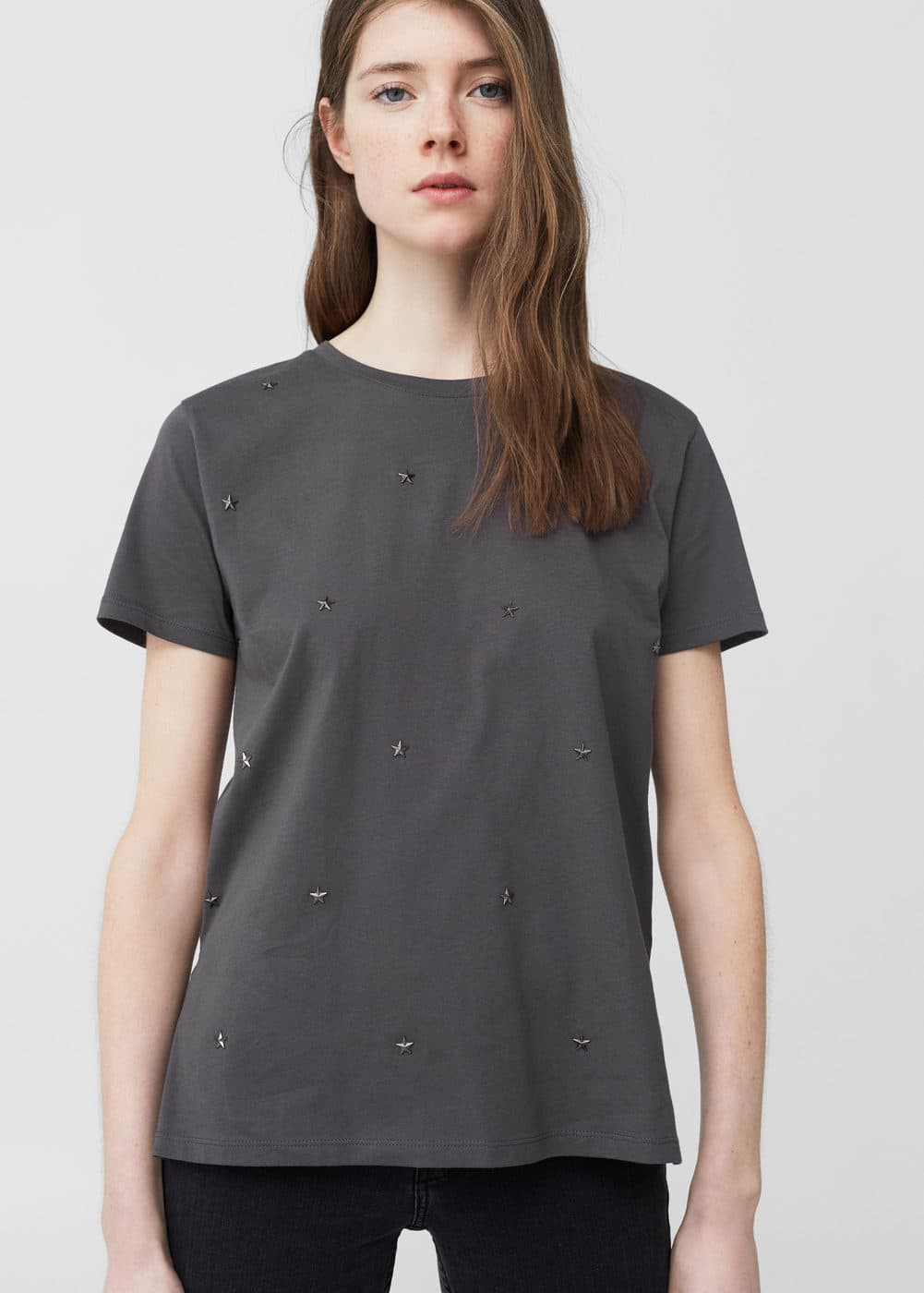 Studded t-shirt | MANGO